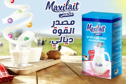 Maxilait ( logo, packaging & poster )