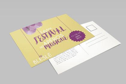 Carte postale - Festival de Musique Blesle