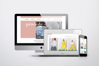 E-boutique mode - Procède