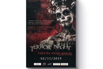 Affiche Soirée Halloween - Horror Night