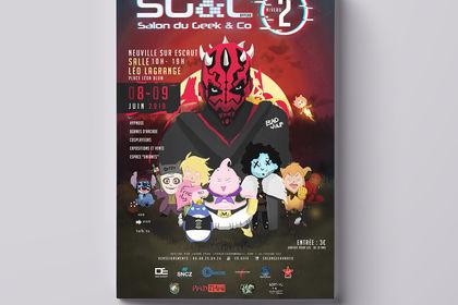 Affiche convention Manga - Geek&Co