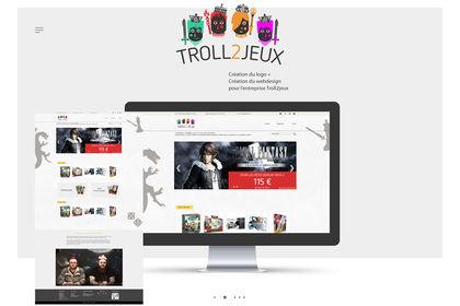 Web design - Troll2Jeux