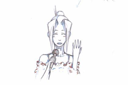 Animation 2D traditionnnelle - Chanteuse
