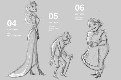 Character designer sheets