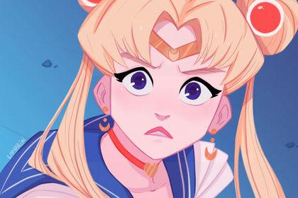 Sailor Moon Screecap Redraw Challeng
