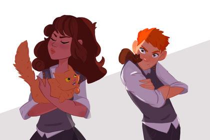 Hermione et Ron fanart