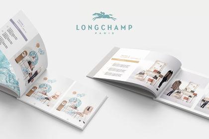 """Mise en page & Infographie des Books """"Longchamp"""""""