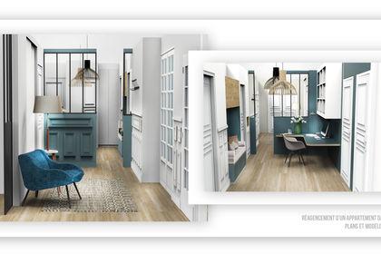 Plan & 3D d'un appartement paris