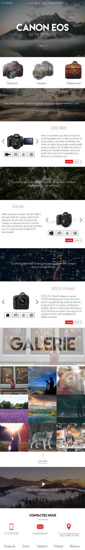 Design d'un site