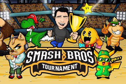 Affiche tournoi Smash Bros
