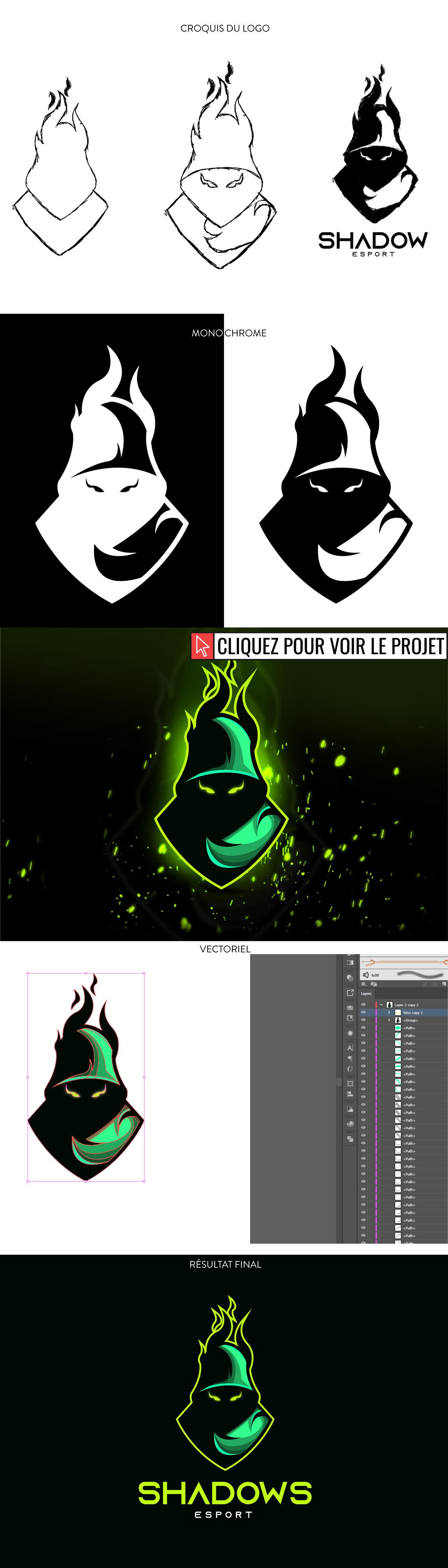 """ESport Logo """" Shadows """""""