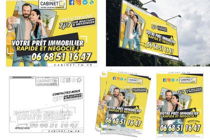 Affiche publicitaire multiple formats - Cabinet TM