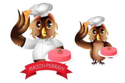 Mascotte boulangerie française