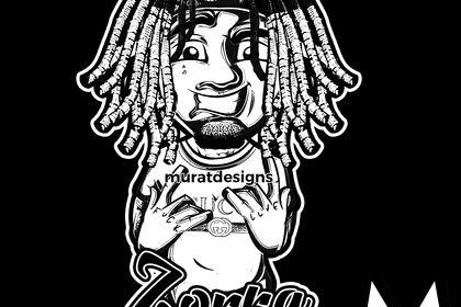 Mascotte inspiré  du rappeur Lil Pump