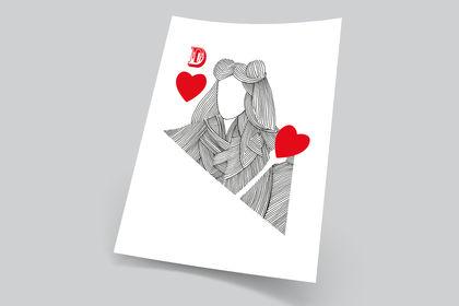 Affiche Dame de cœeur