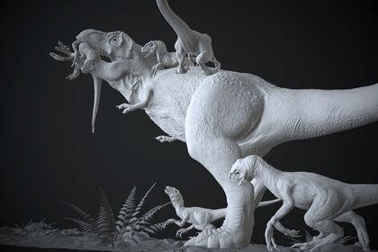 T-rex vs raptor