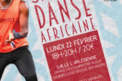 Affiche Stage de Danse Africaine