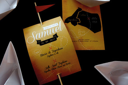 Carton d'invitation baptême