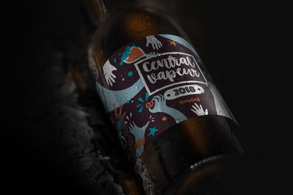 Étiquette pour une bière