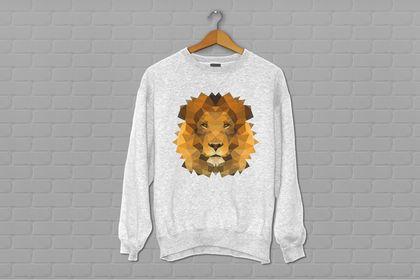 Sweatshirt Lowpoly Lion