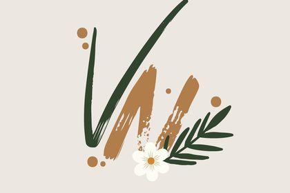 Logo Gold & Flowers