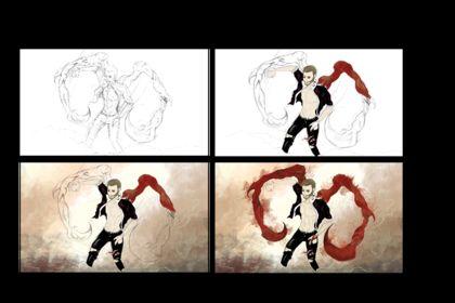 Création digital painting