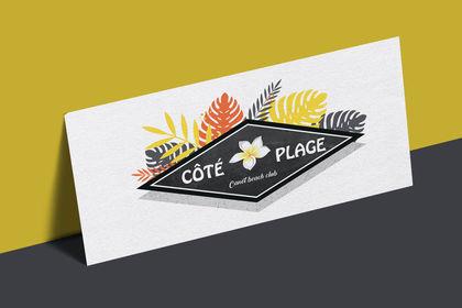 Logo coté plage
