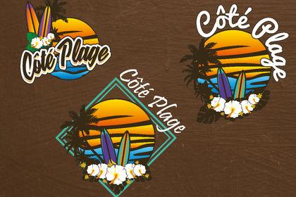Logo club de plage