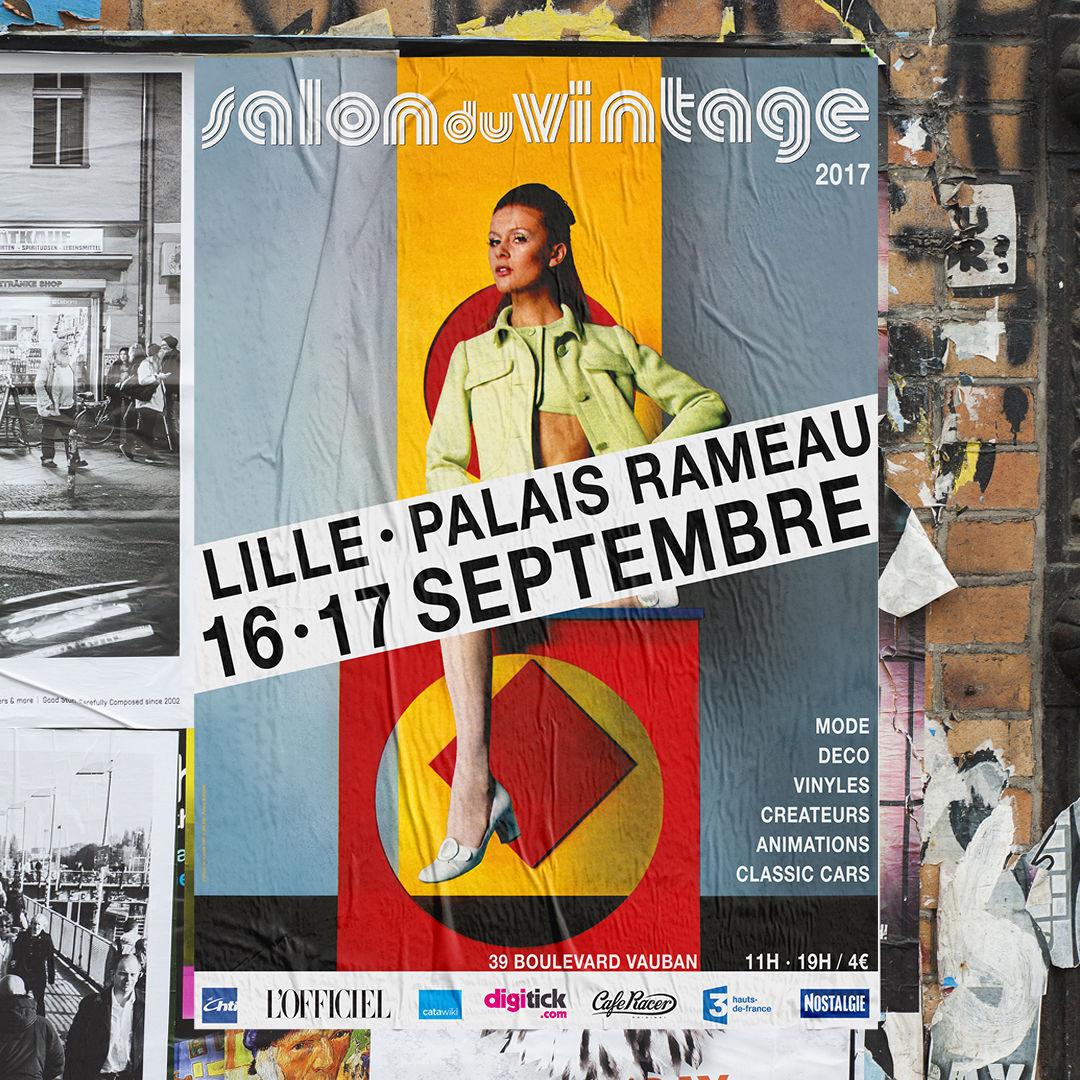 Affiche urbaine Salon du Vintage