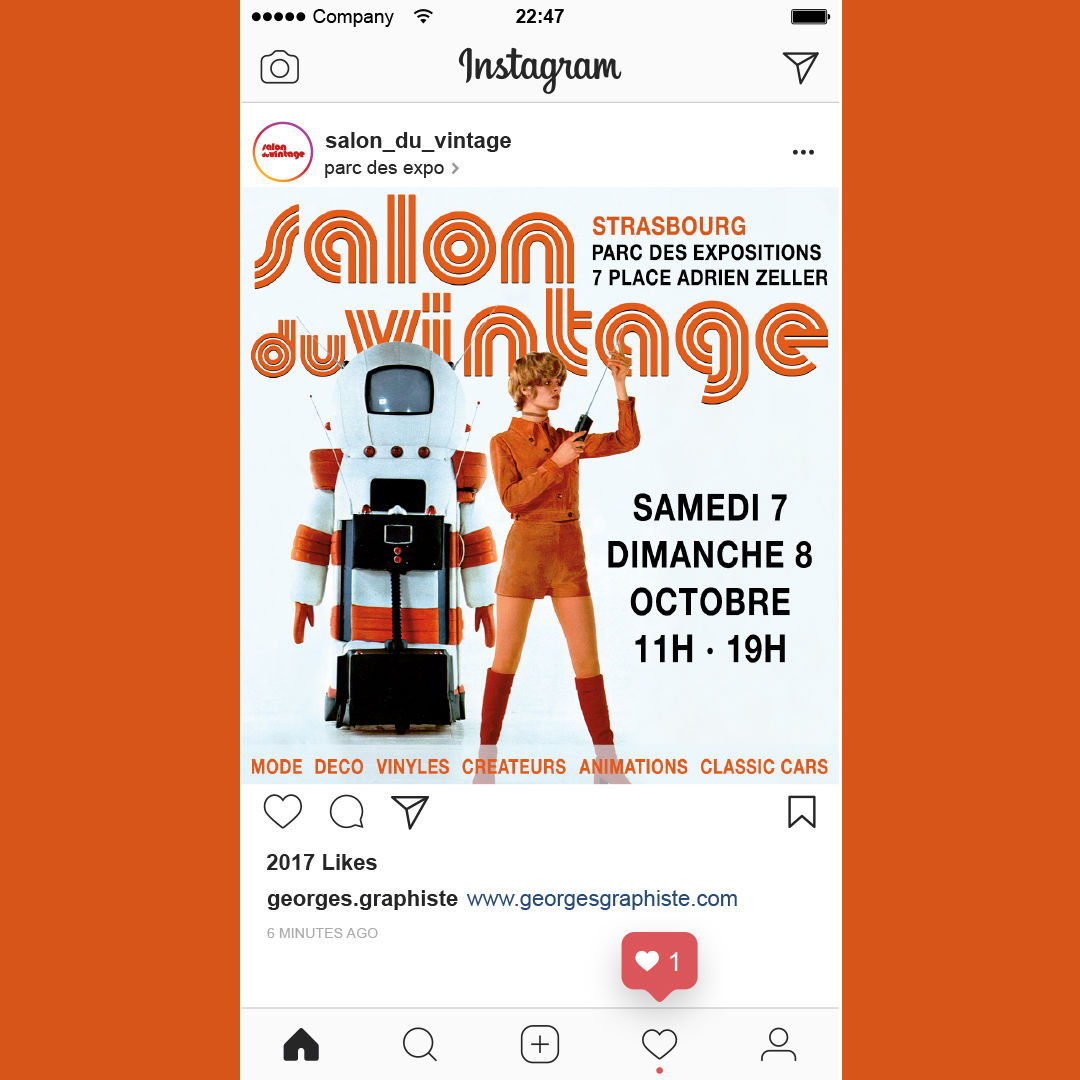 Post Instagram Salon du Vintage