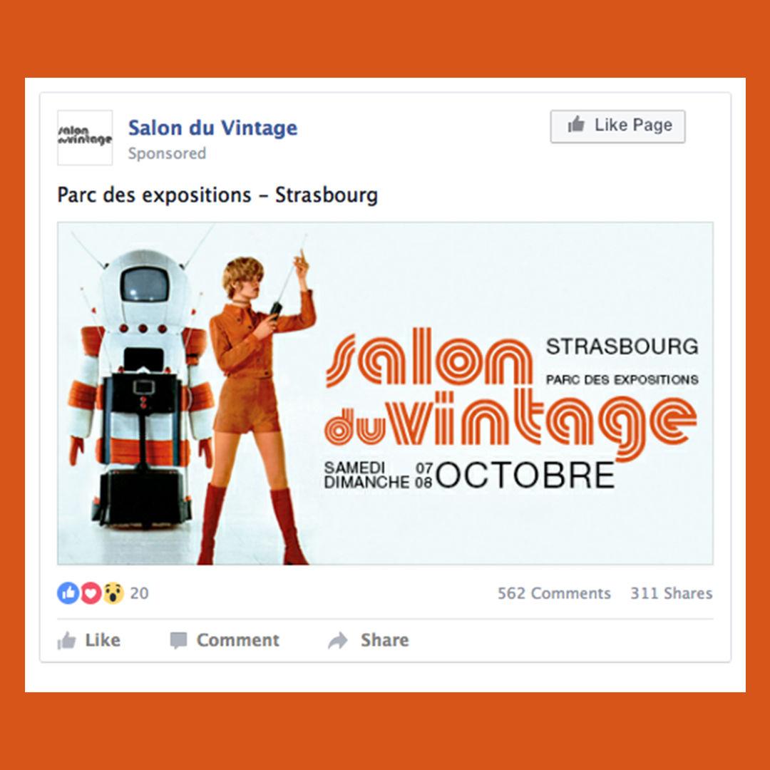 Post Facebook Salon du Vintage