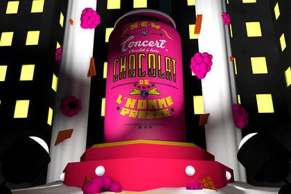 CONCERT, chocolat à boire (chocolat framboise)