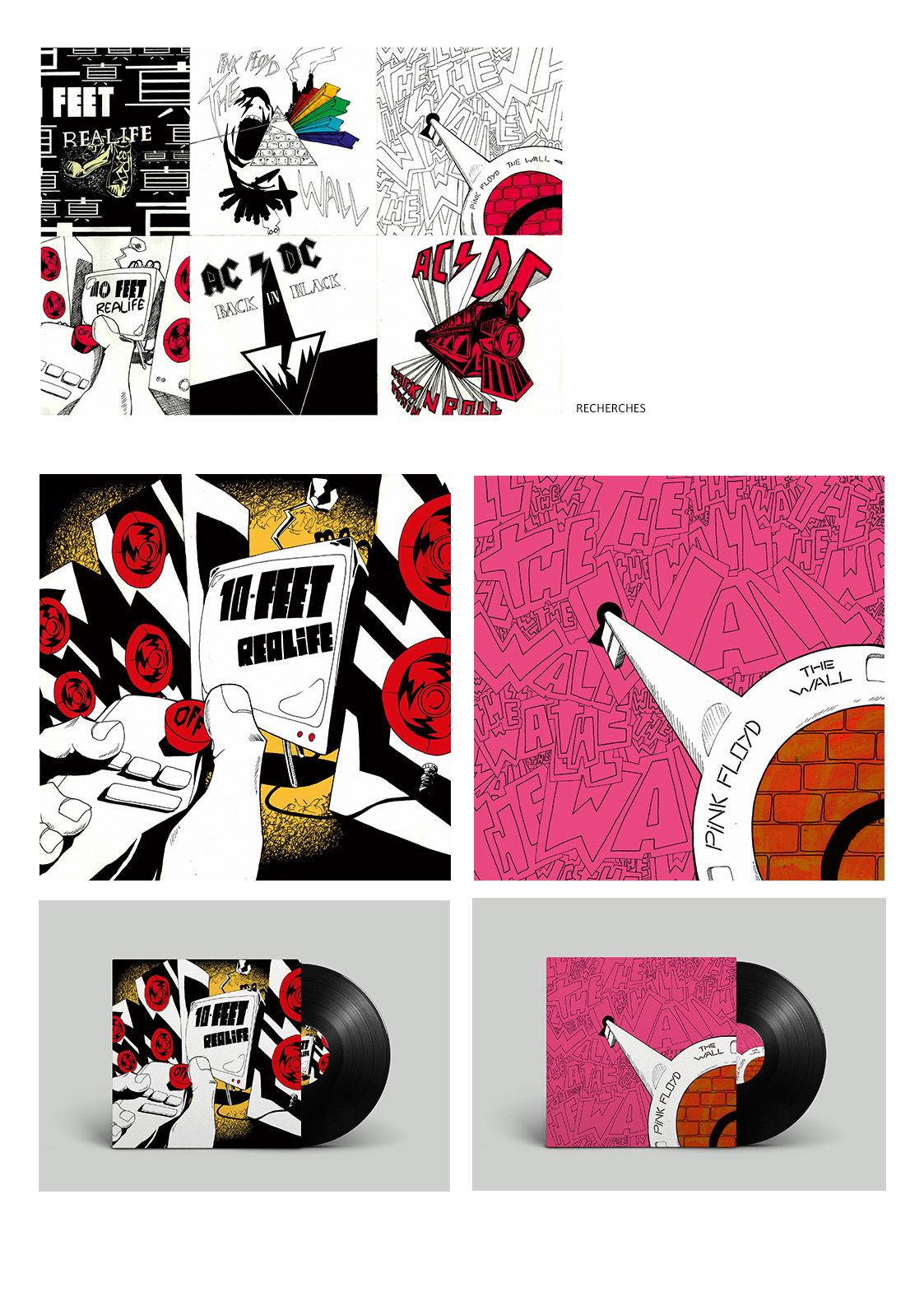 Graphisme pochette vinyle