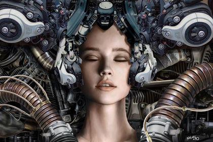 Visage cybernétique