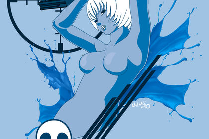 Pin-up of the Dead - blue