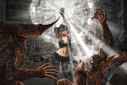 Cyber girl contre les démons