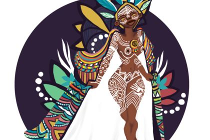 Illustration thème tribal