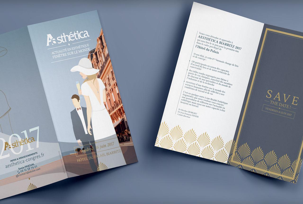 Identité et brochure - Congrès Aesthetica 2017