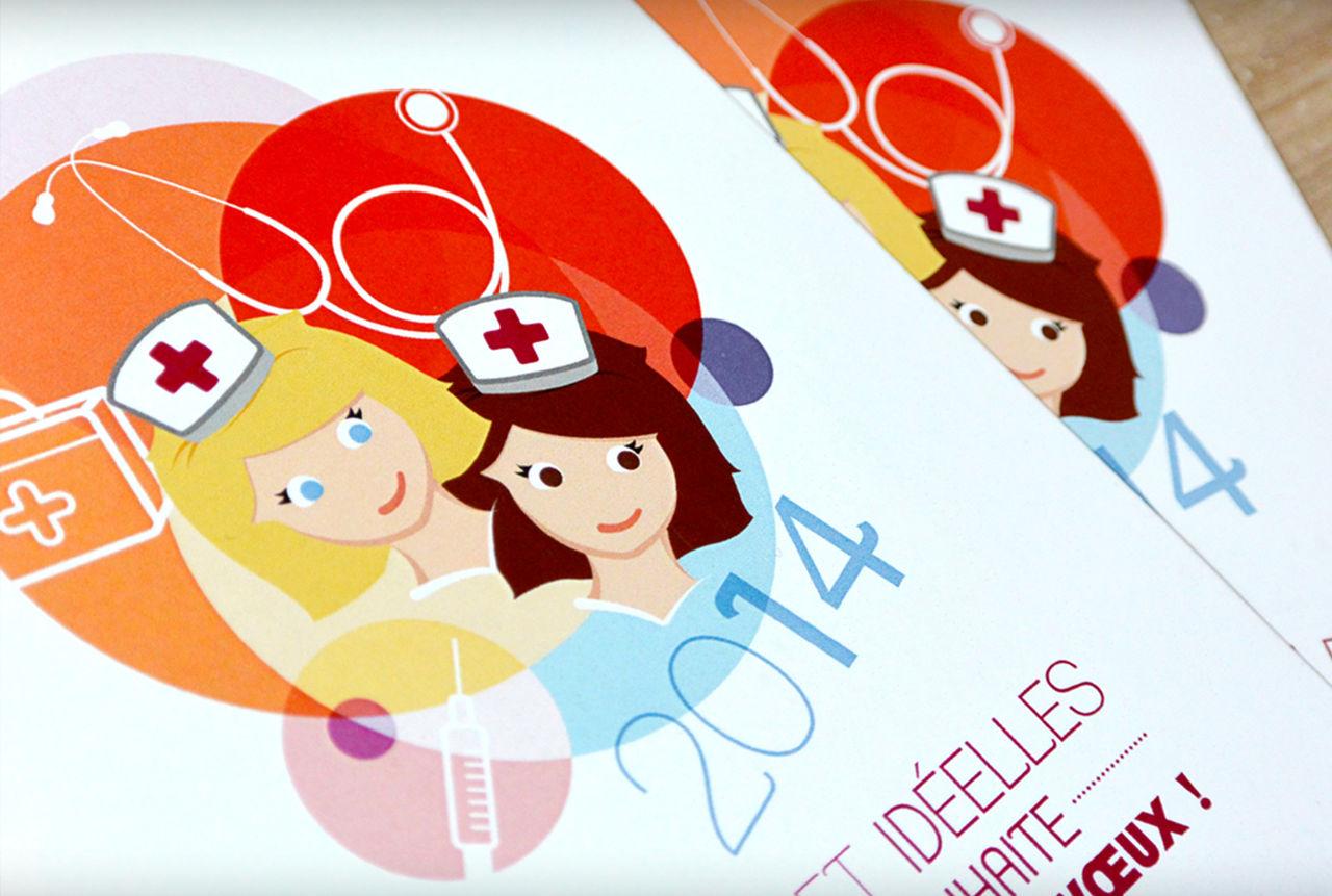 Carte de voeux - Cabinet infirmier Idéelles