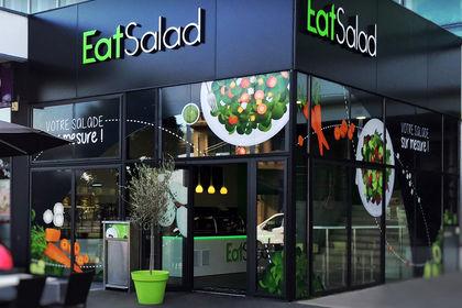Vitrine illustrée - Restaurant EatSalad