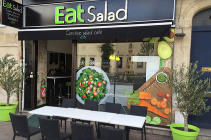 Vitrine illustrée - Restaurant EatSalad