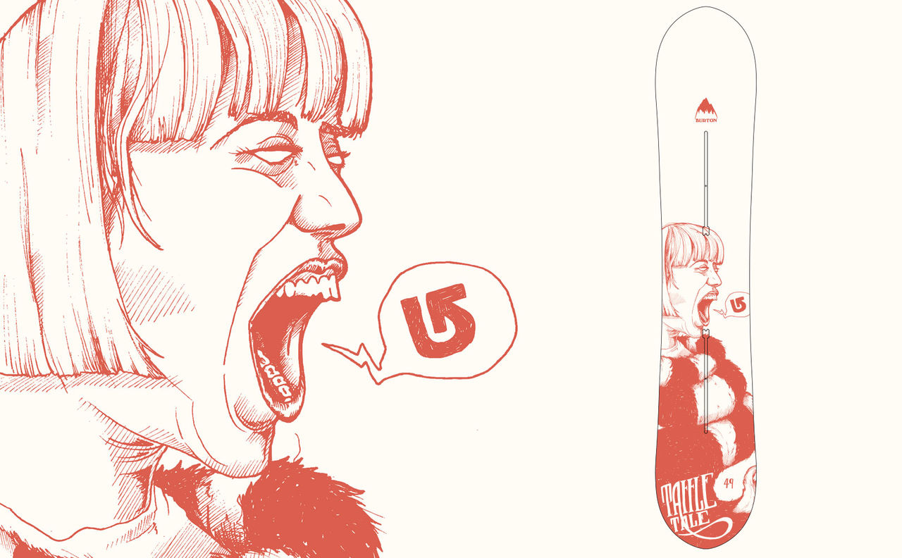 Illustration Burton Snowboards