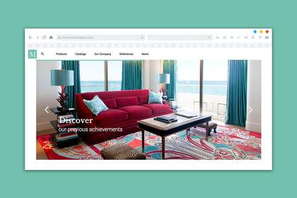 Site internet pour un showroom de meubles
