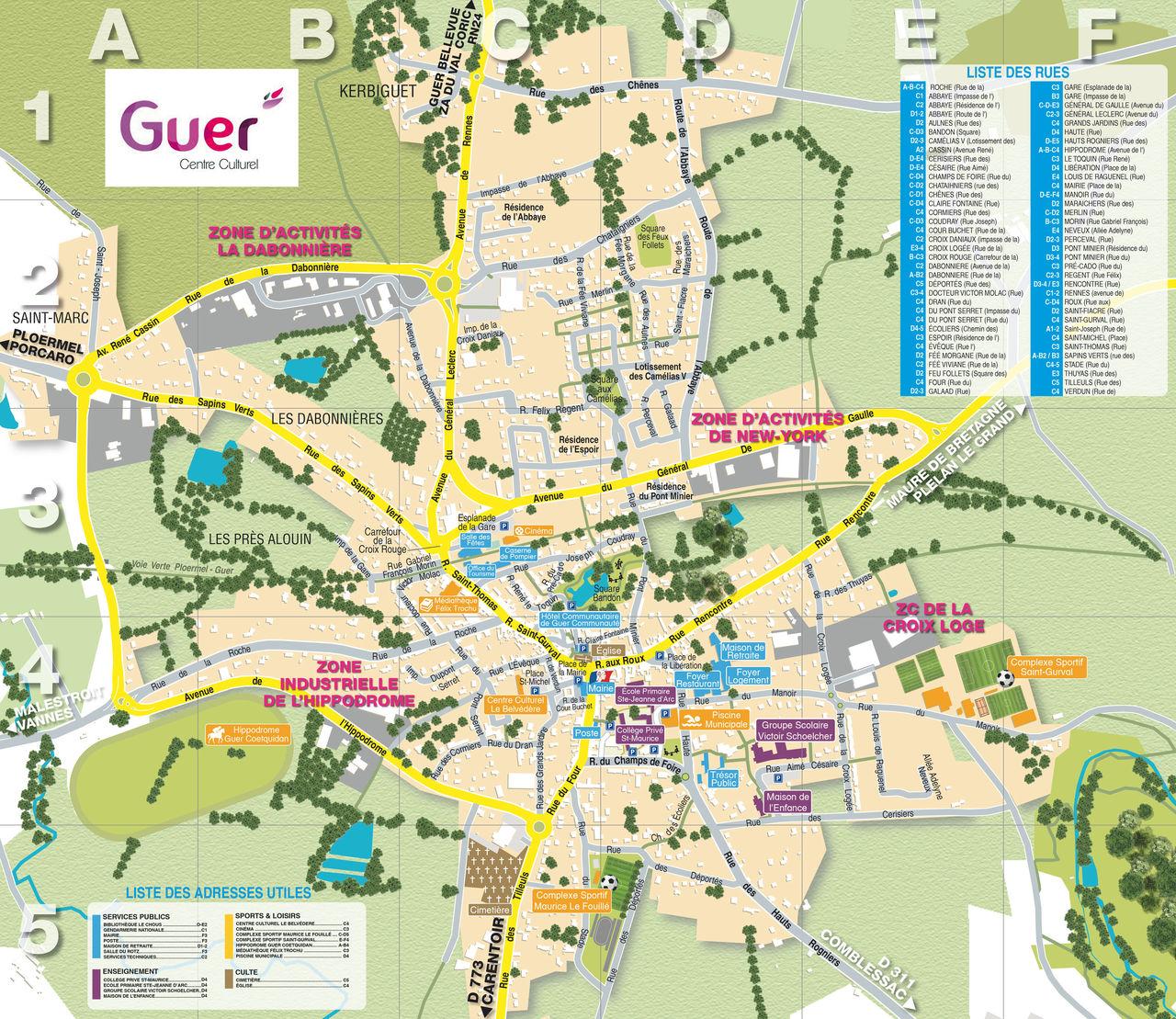 Plan de ville Guer #95588