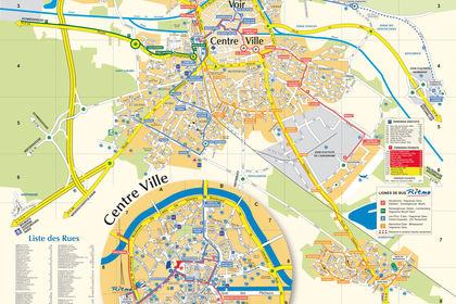 Plan touristique #95589