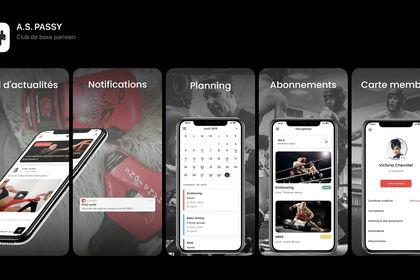 Application mobile A.S Passy - club de boxe parisi