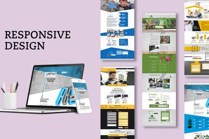 Réalisation pages types web photoshop