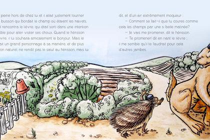 """Illustration pour """"Le Hérisson et le Lièvre"""""""