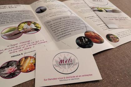 Supports de communication - Méli Massages
