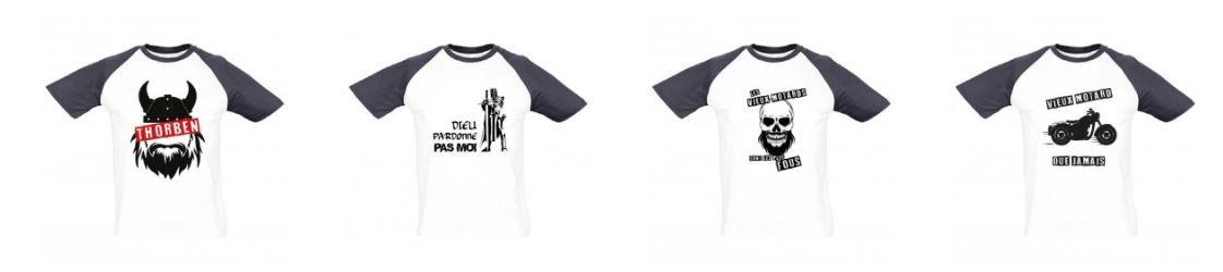 Visuels pour gamme de tee shirts